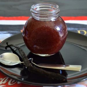 Compota de morango com baunilha