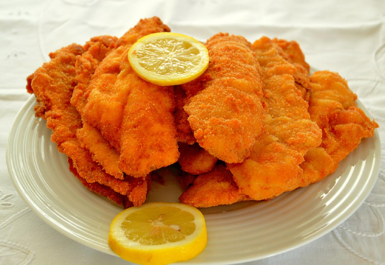 Filetes de pescada panados