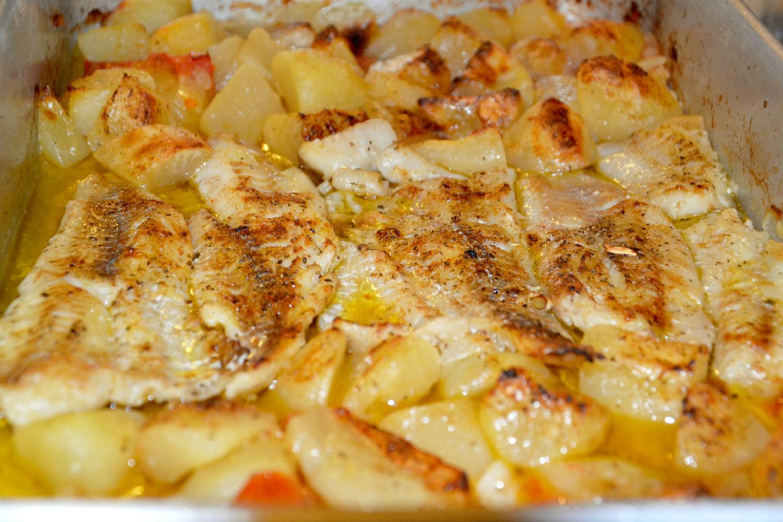 Filetes de Paloco no forno com Oregãos