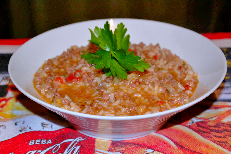 Receita arroz de carne picada ingredientes - Como cocinar carne picada ...