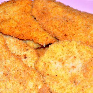 Escalopes de frango panados com limão