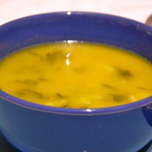 Sopa de nabiças com arroz