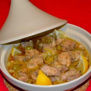 Tajine de Frango com Limão e Azeitonas