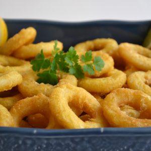 Calamares ou Argolas de Lula Fritas