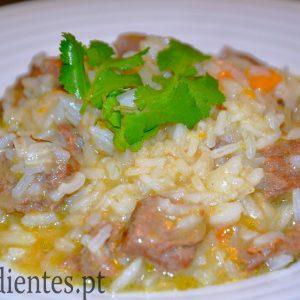 Arroz de Carne com Cenoura