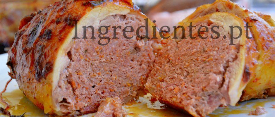 Pernas de Frango Recheadas com Carne Picada