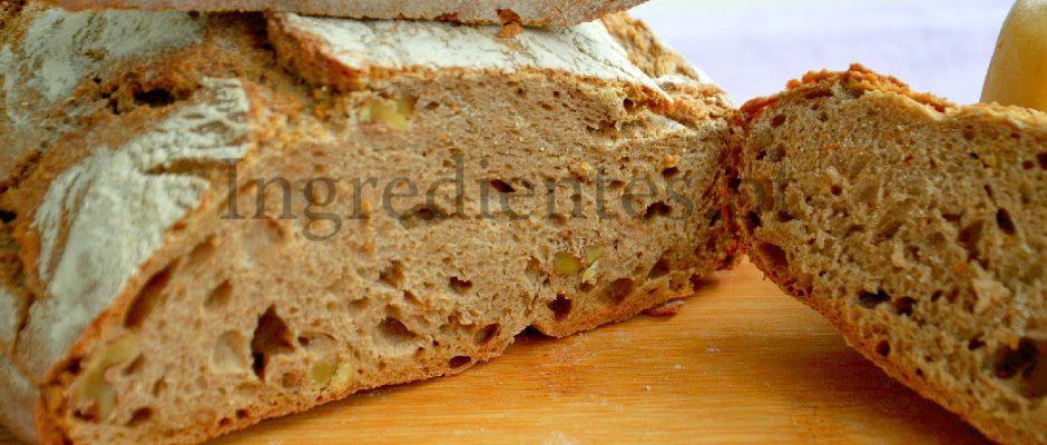 Pão Rústico com Nozes